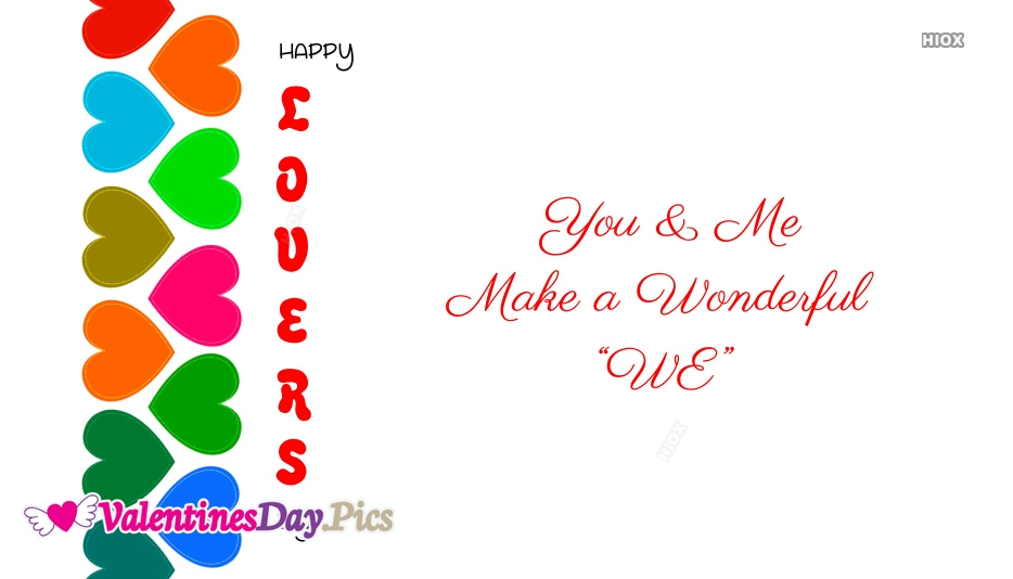 Happy Lovers Day With Quote