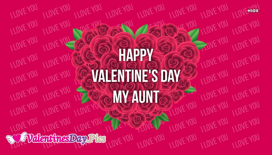 Happy Valentines Day My Aunt