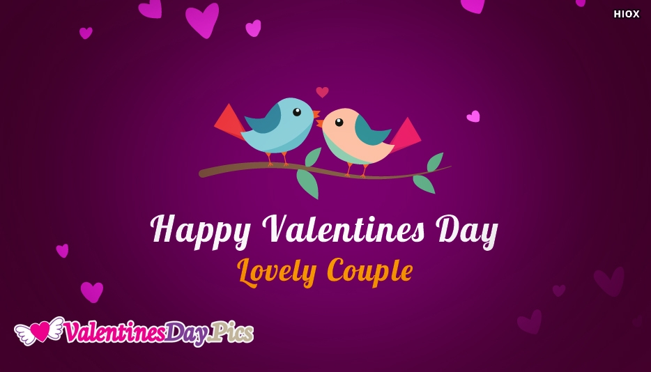 Happy Valentines Day To Lovely Couple Image