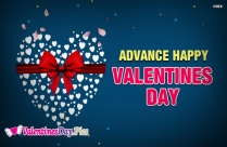 Advance Happy Valentine Day Image