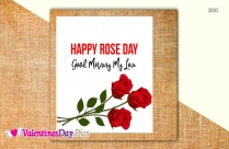 Happy Rose Day Good Morning