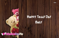 Happy Teddy Day Baby Image