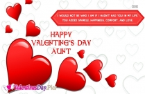 Happy Valentines Day Dear Aunt