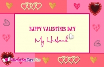 Happy Valentines Day For My Husband Image