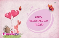 Happy Valentines Day My Beautiful Friend Image