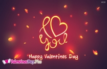 Happy Valentines Day I Love You Image