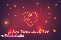 Happy Valentines Day My World Image
