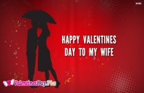 Happy Valentines Day For Wife