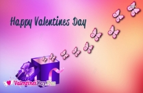 Happy Valentines Day With Butterflies