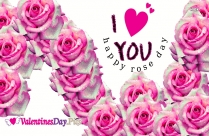 I Love U Happy Rose Day