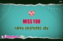 Miss You Happy Valentines Day Image