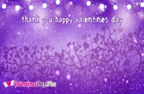 Thank You Happy Valentines Day
