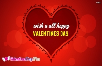 Wish U All Happy Valentines Day Image