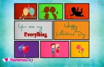 You Are My Everything Happy Valentines Day Message