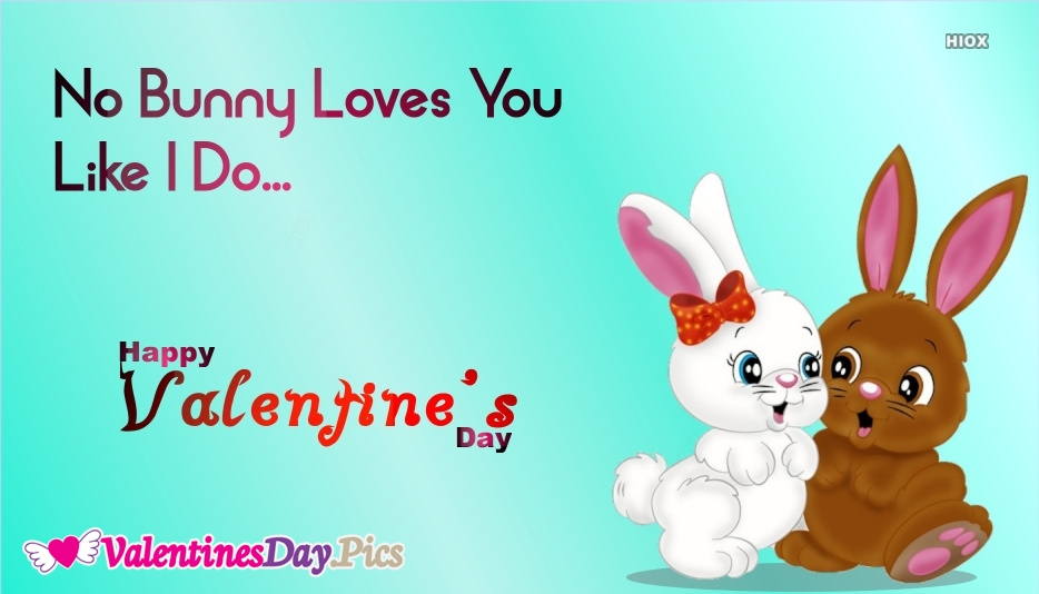 My Valentines Day Wishes With Cute Bunnies